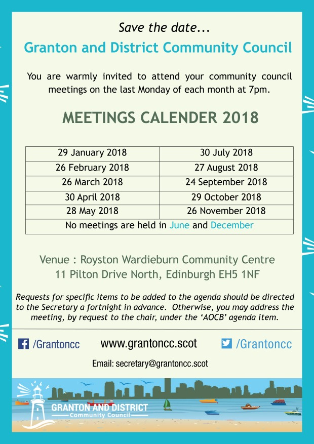 Meeting Dates 2018