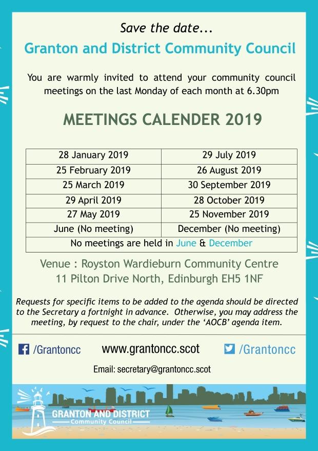 meeting dates 2019